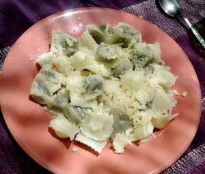 plato ravioles espinaca